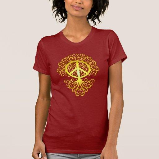 Peace Tree, yellow Tshirt