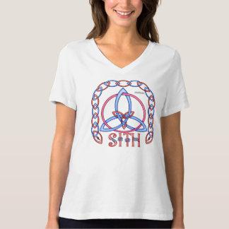 Peace Triquetra Ladies Plus Size V-Neck Tee