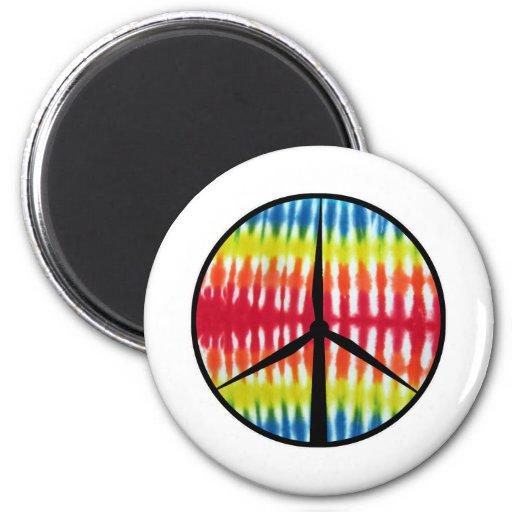 Peace Turbine Fridge Magnet