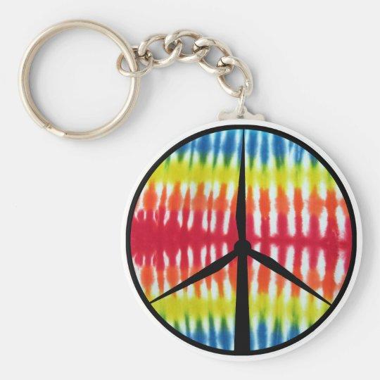 Peace Turbine Keychain