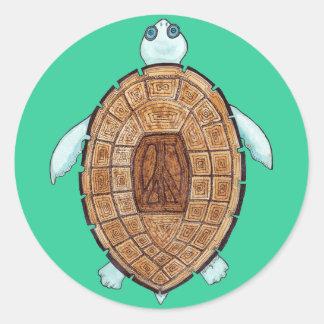 Peace Turt Sticker