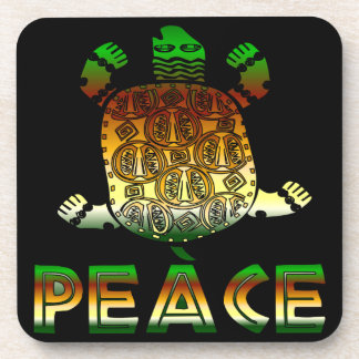 Peace Turtle Beverage Coaster