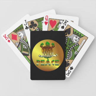Peace Turtle Bicycle Playing Cards