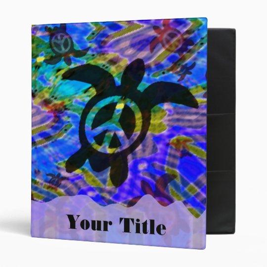 """Peace Turtle Customizable 1"""" Art Binder"""