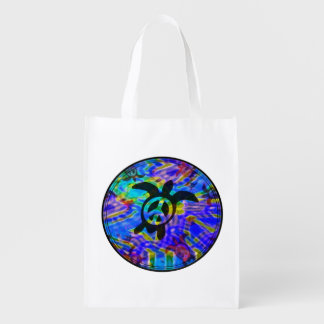 Peace Turtle Grocery Bag