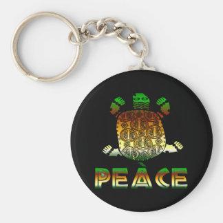 Peace Turtle Keychain