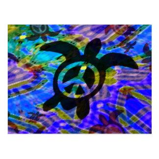 Peace Turtle Postcard