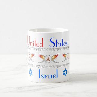 PEACE-USA e ISRAEL Tazas De Café