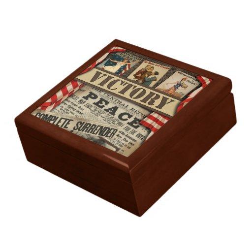 Peace & Victory Keepsake Box