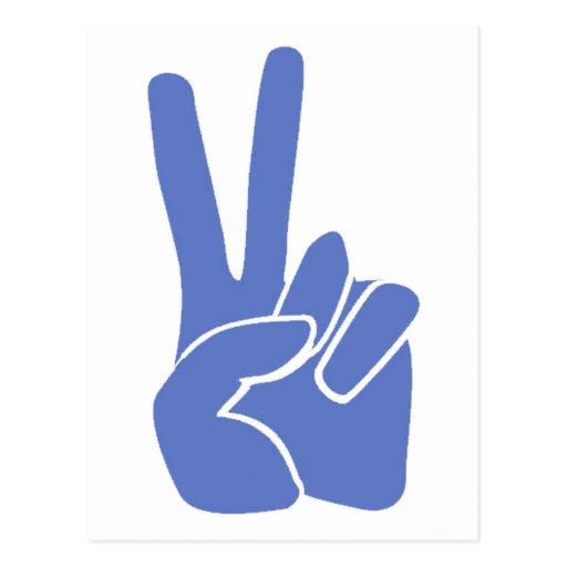 Peace Victory Postcard