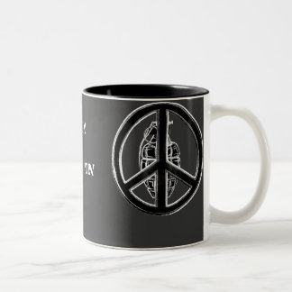 Peace & War (Black) Two-Tone Coffee Mug