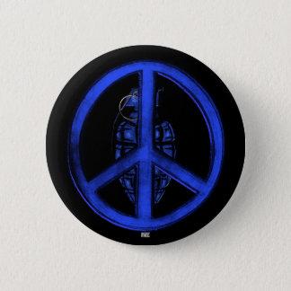 Peace & War (Blue) Pinback Button