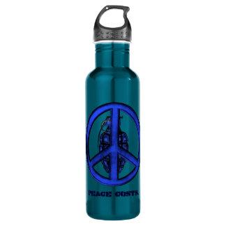 Peace & War (Blue) Stainless Steel Water Bottle