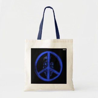 Peace & War (Blue) Tote Bag