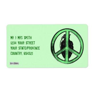 Peace & War (Green/Gun Metal Grey) Label