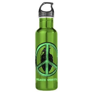 Peace & War (Green/Gun Metal Grey) Water Bottle