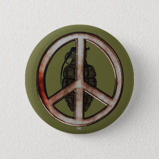 Peace & War Pinback Button