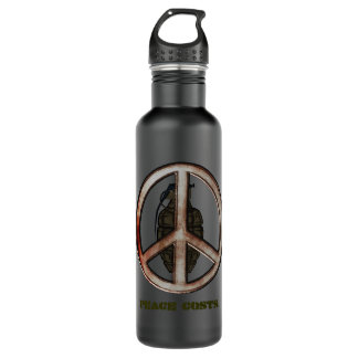 Peace & War Stainless Steel Water Bottle