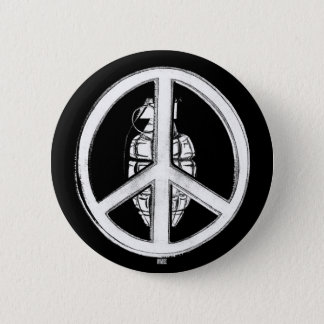 Peace & War (White) Button