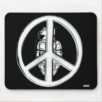 Peace & War (White) Mouse Pad