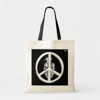 Peace & War (White) Tote Bag