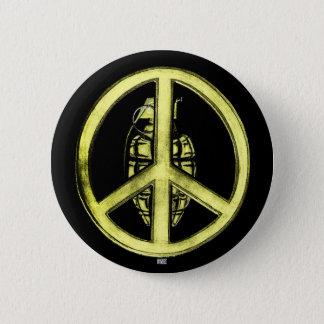 Peace & War (Yellow) Button