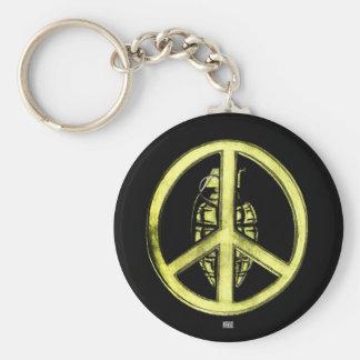 Peace & War (Yellow) Keychain
