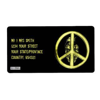 Peace & War (Yellow) Label