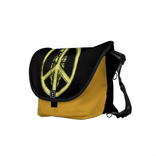 Peace & War (Yellow) Messenger Bag
