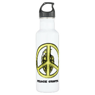 Peace & War (Yellow) Stainless Steel Water Bottle