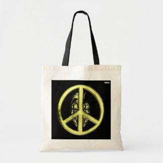 Peace & War (Yellow) Tote Bag