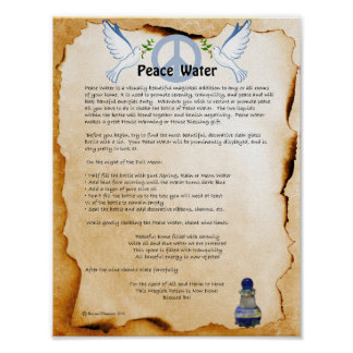 PEACE WATER POSTER