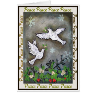 Peace White Doves Flying Cards