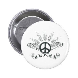 peace wing button