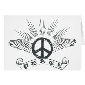 peace wing card
