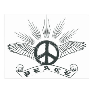 peace wing post card
