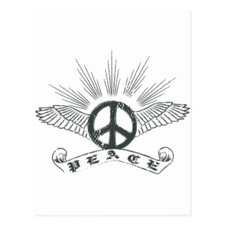 peace wing postcard