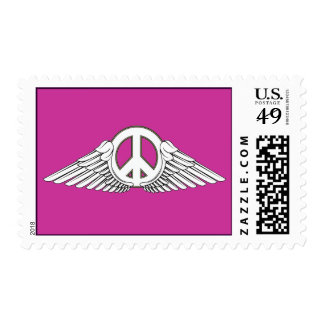 PEACE WINGS STAMP