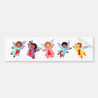Peace  with Angels Bumper Sticker