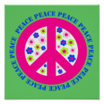 PEACE WITH FLOWERS PRINT