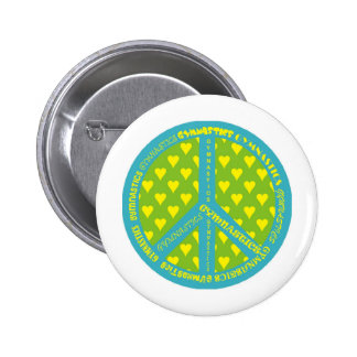 Peace with Gymnastics in frame Button