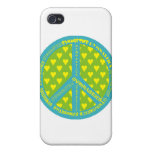Peace with Gymnastics in frame Cases For iPhone 4