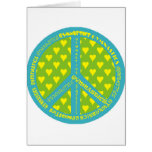 Peace with Gymnastics in frame Greeting Card