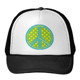 Peace with Gymnastics in frame Trucker Hat