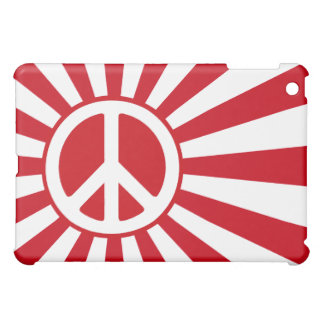Peace with japanese naval flag iPad mini cases