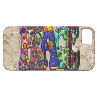Peace Word Art Birds and Butterflies iPhone 5 Case
