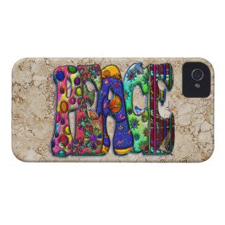 Peace Word Art Birds and Butterflies iPhone 4 Case