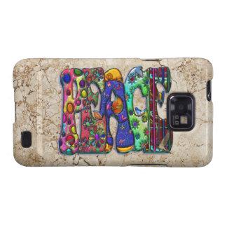 Peace Word Art Birds and Butterflies Samsung Galaxy S2 Case
