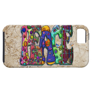 Peace Word Art Birds and Butterflies iPhone 5 Cover