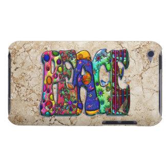 Peace Word Art Birds and Butterflies iPod Touch Case